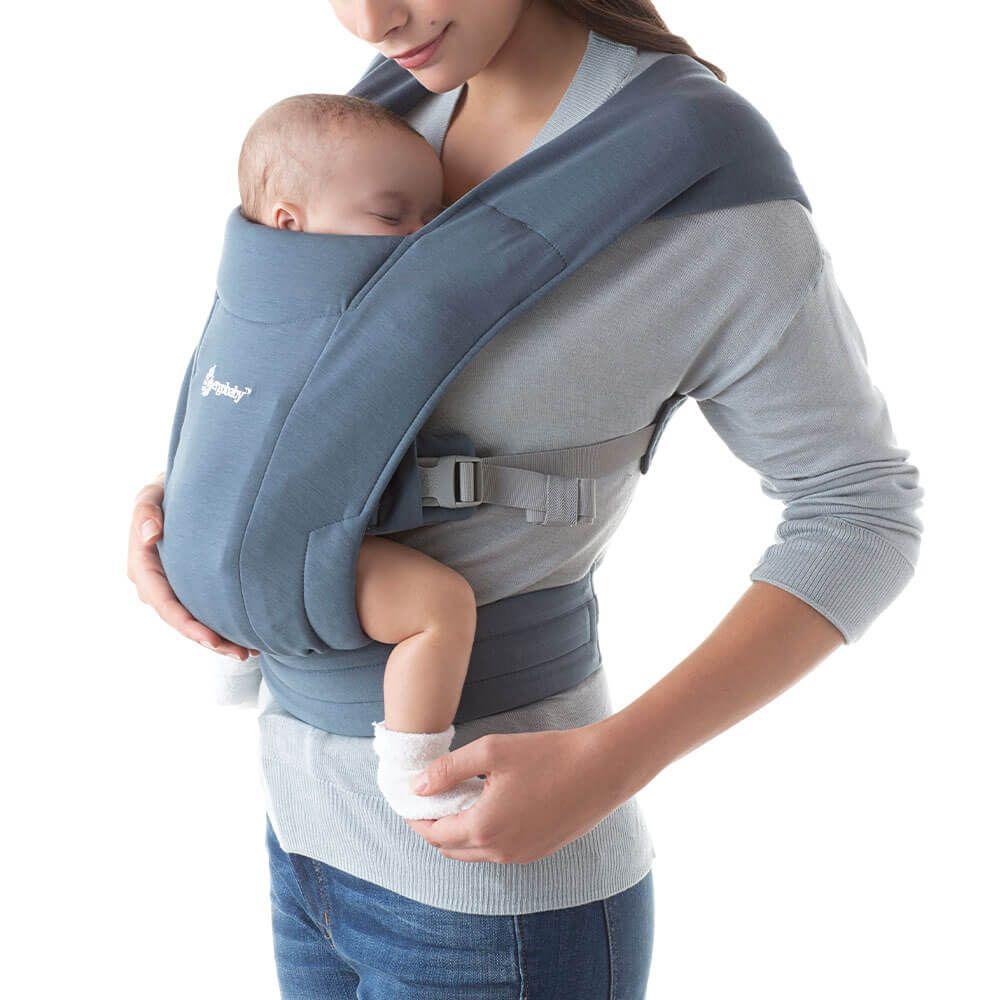 Ergobaby Embrace Newborn Carrier: Oxford Blue